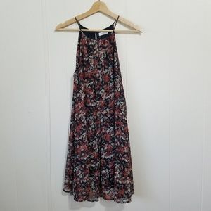 Lush | Rust & White Floral Dress | SZ M